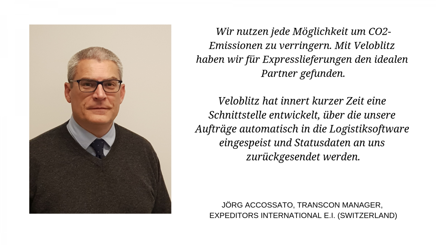 Jörg Accossato, Transcon Manager, Expeditors